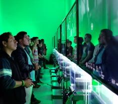 ASPECTOS DE VISITANTES EN EL FOTO MUSEO CUATRO CAMINOS EN EVENTO XBOX FEST