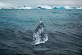 Pedazo de glaciar en Islandia