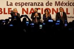 ASAMBLEA NACIONAL ELECTIVA DE MORENA, CON EL PRECANDIDATO A LA PRESIDENCIA DE LA REPUBLICA, ANDRES MANUEL LOPEZ OBRADOR. EN SALON DIEGO HOTEL HILTON. 18 FEBRERO 2017